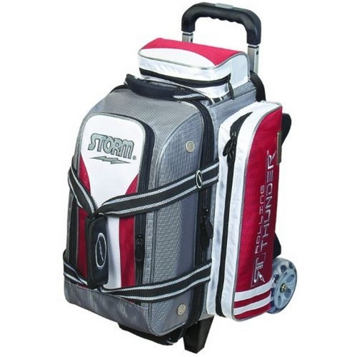 Storm Rolling Thunder 2 Ball Roller Silver Red White Bowling Bags Free Shipping