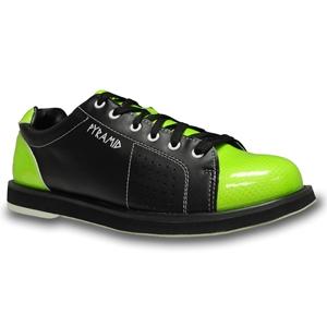 Pyramid Men's Path Black/Lime Green Bowling Shoes FREE SHIPPING