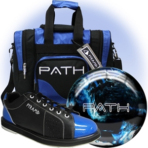 Pyramid Path Blue Ball/Bag/Shoe Package Bowling Combos FREE SHIPPING