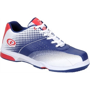 red white and blue bowling shoes