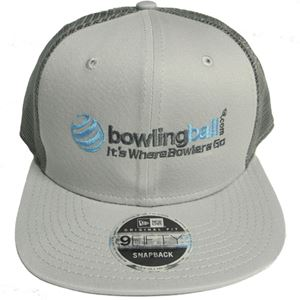 65a36edaef0a8 bowlingball.com New Era Original Fit Snapback Trucker Cap Grey/Graphite