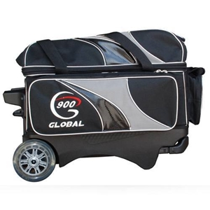 64f6d152aa 900 Global 2-Ball Deluxe Roller Silver Black Bowling Bags FREE SHIPPING